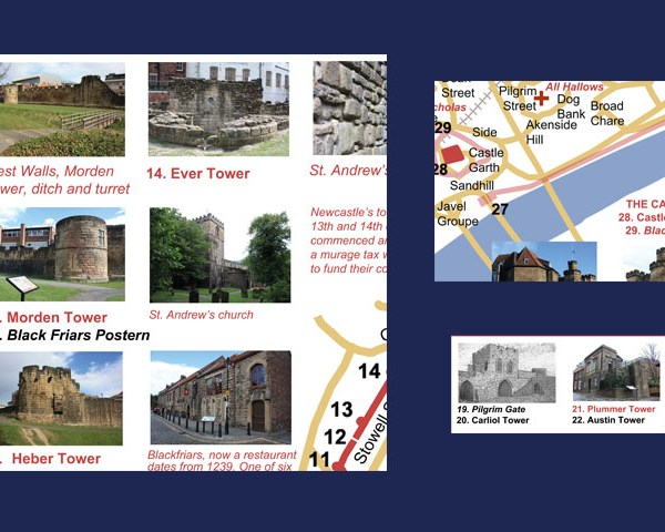 Newcastle walls and castle print