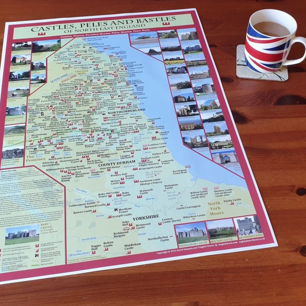 North East England castles poster