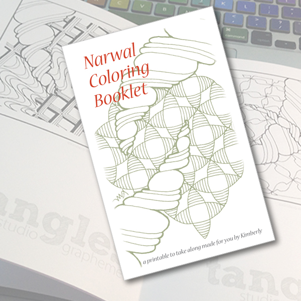 narwal coloring booklet