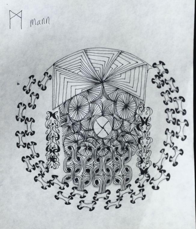 Tangle Saxon Runes: Mann