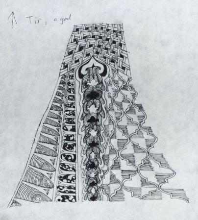 Tangle Saxon Runes: Tir
