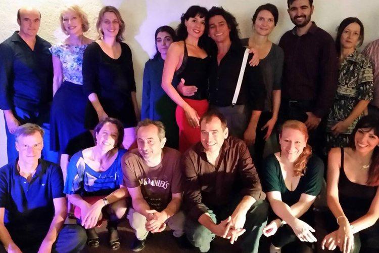 Tango Kurse in München - Fabian y Michaela mit ihren Schülern