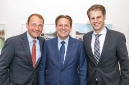 Michael Feisthauer und Torben Friedrichs-Jäger (Berenberg Braunschweig), Dr. Frederik Heinz (Geschäftsführer Hermann Ehlers Stiftung)