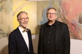Künstler Erhard Rimek und Klaus-Michael Heinze (Kanzler FH Kiel)
