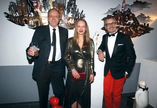 Ahoi 2018_Rolf Rollo Fuhrmann, Hannah Rebekka Ehlers und Galerist Anaisio Guedes, Arte Gallery