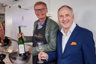 Günther Jauch (Weingut von Othegraven) und Karl J. Pojer