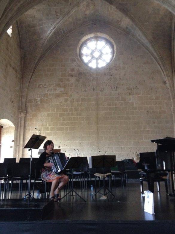 3 timers dejlig øvning i vidunderlig koncertsal