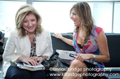 Arianna Huffington and Teresa Rodriguez Williamson