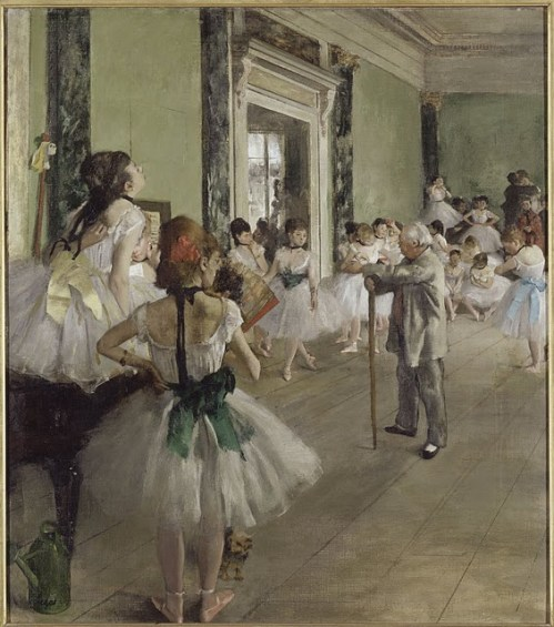 The Dancing Lesson (1873-1876). Edgar Degas (1834-1917). Oil on canvas, 37 3/8 x 29 ½ inches. RMN (Musée d'Orsay)/Hervé Lewandowski