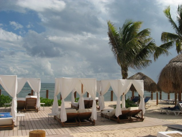 Ocean Maya's private beach
