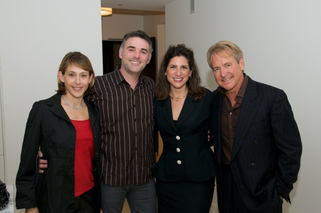 Eileen Blum Bourgade, Alain Bourgade, Vivian Panou, Philip Claypool, owner of Southern Pacific Smoke House opening in May.