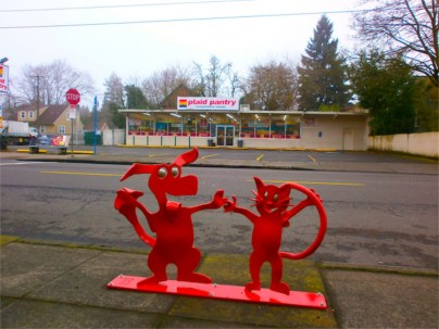Dancing Dog and Cat Bike Rack