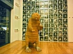 Portland Large Cardboard Beaver Sculpture in Ad Agency Lobby