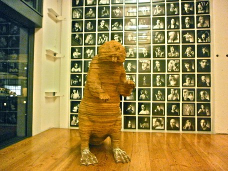 Portland Large Cardboard Beaver Sculpture in Ad Agency Lobby
