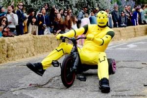 BYOBW, bring your own big wheel, event, san francisco, potrero hill, 94107, race , yellow robot costume,
