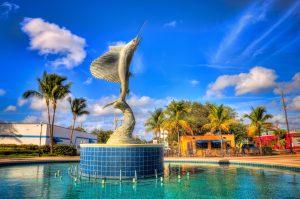 Sailfish statue at downtown Stuart Martin County