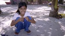 Girl on beach, Boracay