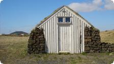 A traditional Icelandic country shack