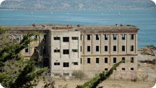 Empty barracks on Angel's Island