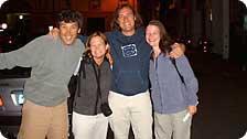 Luigi, Luca, me and Emilie. Our saviors!