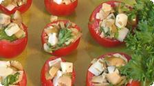 Stuffed cherry tomatoes (detail)