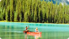 Canoe on Emerald Lake
