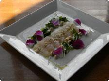 Sashimi of Fluke with Carolina Flounder