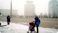 Genice and Jiana Siteseeing in Almaty.