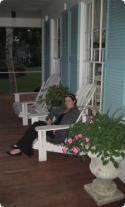The porch at Captain Ferris House