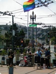 street entertainment in the Castro