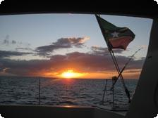 Sunset off the coast