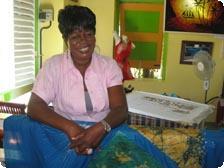 Batik artist Yvette Coker