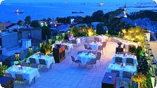 Terrace dining at the Eresin.