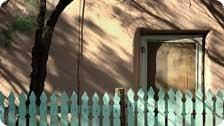 Afternoon shadows in Santa Fe