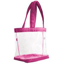 Clearview straps tote in rose