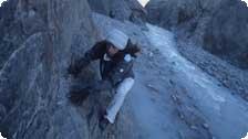Denise climbing