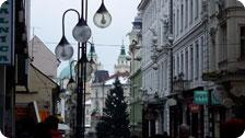 Ljubljana city centre at Christmas Time
