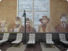 A gentlemanly mural