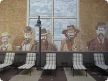 A gentlemanly mural