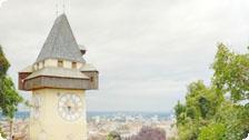 Graz's landmark clock tower