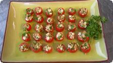 Stuffed cherry tomatoes