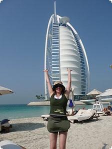 Moi at Burj Al Arab Private Beach