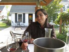 The author savors a red