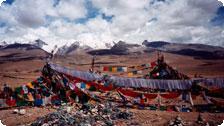 Tibet, prayer flags