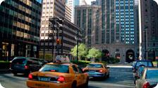 Taxis on the streets of New York