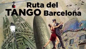 Mapa de la ruta del tango Barcelona