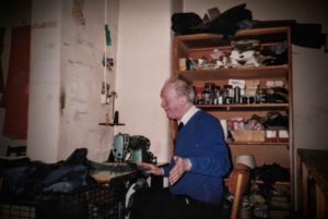 Jimmy Dunne at work in his workshop