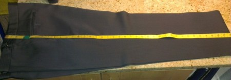 3 -Measure full outsuide seam