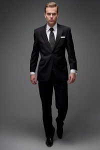 Black Wool Wedding Suit