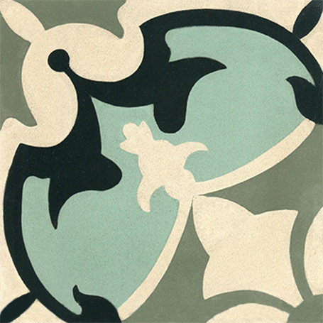 sofia pattern cement tile at tango tile